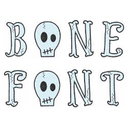 Bone Font embroidery font