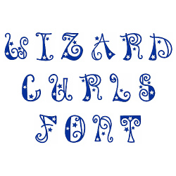 Wizard Curls Font embroidery font