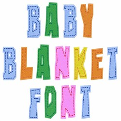 Baby Blanket Font embroidery font