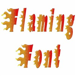 Flaming Font embroidery font