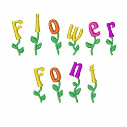 Flower Font embroidery font