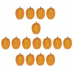 Jack-O-Lantern Font embroidery font