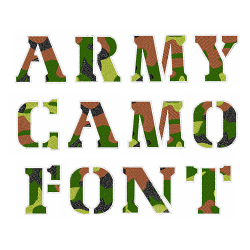 Army Camo Font embroidery font