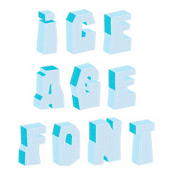 Ice Age Font embroidery font