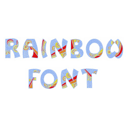 Rainbow Font embroidery font