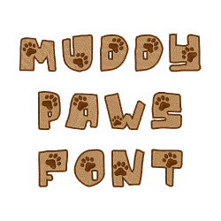 Muddy Paws Font embroidery font