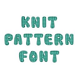 Knit Pattern Font embroidery font