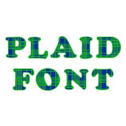 Plaid Font embroidery font