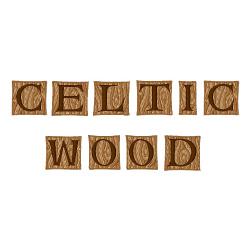 Celtic Wood Font embroidery font