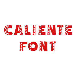 Caliente Font embroidery font