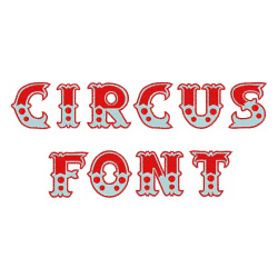 Circus Font embroidery font