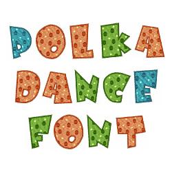 Polka Dance Font embroidery font