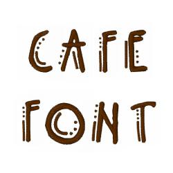 Café Font embroidery font