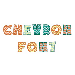 Chevron Font embroidery font
