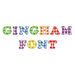 Gingham Font embroidery font