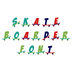 Skateboarder Font embroidery font