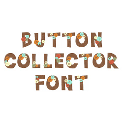 Button Collector Font  embroidery font