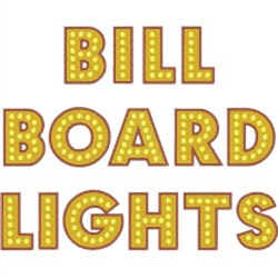 Billboard Lights Font embroidery font