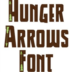 Hunger Arrows Font embroidery font