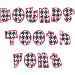 Houndstooth Font embroidery font