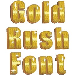 Gold Rush Font embroidery font