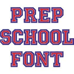 Prep School Font embroidery font