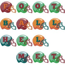 Football Helmet Font embroidery font