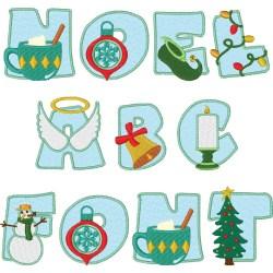 Noel Alphabet Font embroidery font
