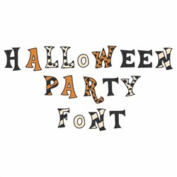 Halloween Party Font  embroidery font