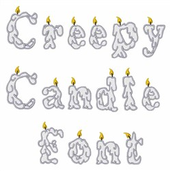 Creepy Candle Font  embroidery font
