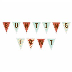 Bunting Font  embroidery font