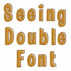 Seeing Double Font  embroidery font