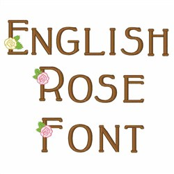 English Rose Font  embroidery font