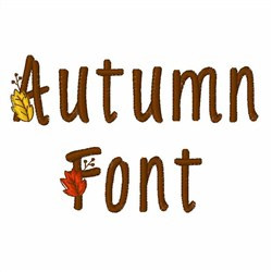 Autumn Font  embroidery font