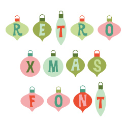 Retro Ornaments Font embroidery font
