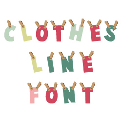 Clothesline Font embroidery font