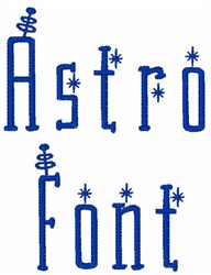 Astro Font embroidery font