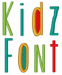 Kidz Font embroidery font