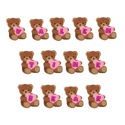 Valentine Bear Font embroidery font