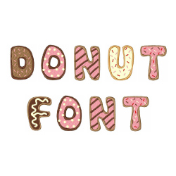 Donut Font embroidery font
