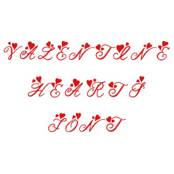 Valentine Heart Font embroidery font