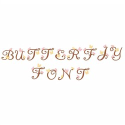 Butterfly Font embroidery font