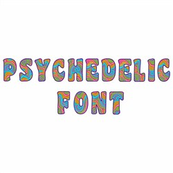 Psychedelic Font embroidery font