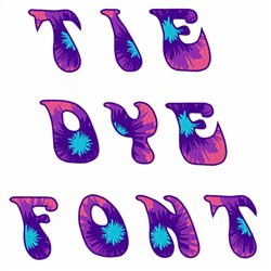 Tie Dye Font embroidery font