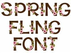 Spring Fling Font embroidery font
