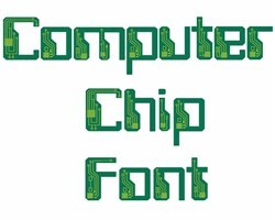Computer Chip Font embroidery font