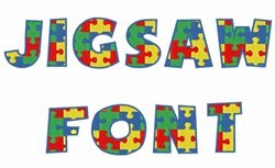 Jigsaw Font embroidery font