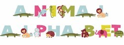 Animal Alphabet embroidery font
