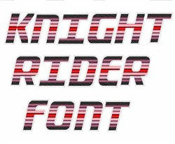 Knight Rider Font  embroidery font