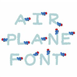 Airplane Font  embroidery font